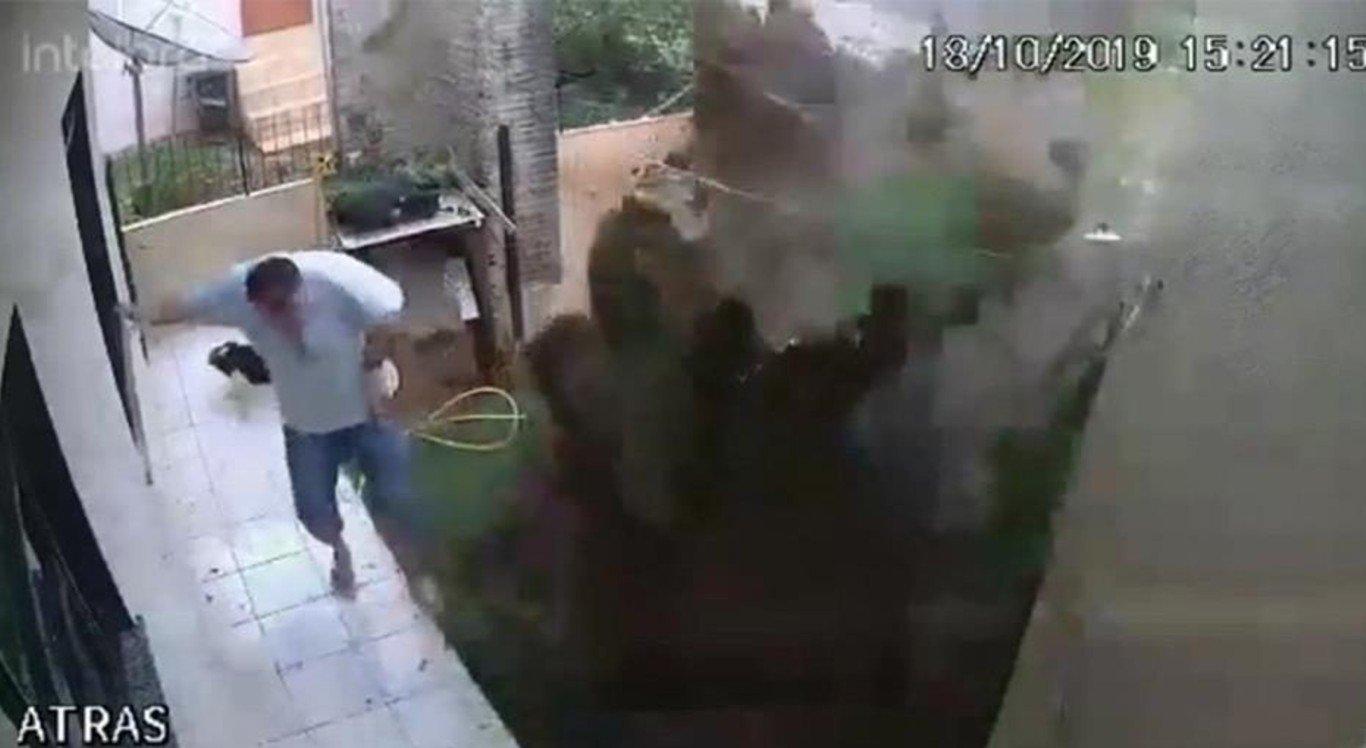 Homem explodiu o próprio quintal ao tentar acabar com as baratas