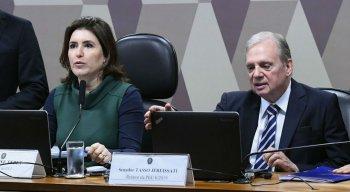 Simone Tebet (MDB) e Tasso Jereissati (PSDB)