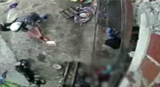 Vídeo mostra momento em que homem é assassinado em Goiana