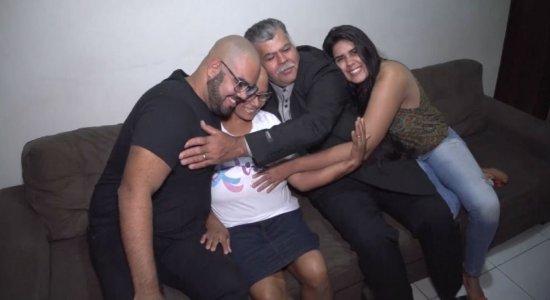 Família reunida apoia Maria Josefa durante o tratamento