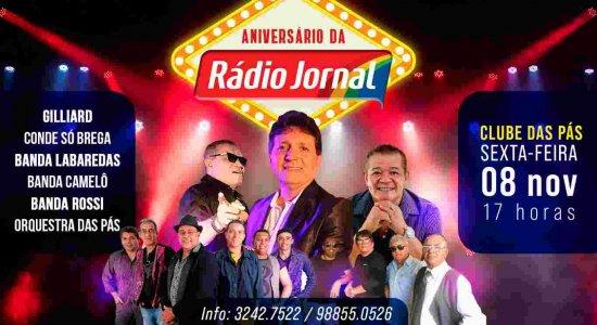 Show de aniversário da Rádio Jornal terá Labaredas, Conde Só Brega e Gilliard
