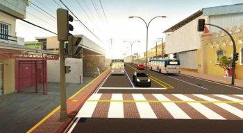 Oito paradas de ônibus serão deslocadas do canteiro central da via para as calçadas, onde serão construídos recuos