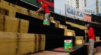 Empresa é responsável pela pintura do estádio em outra modalidade de negócio.