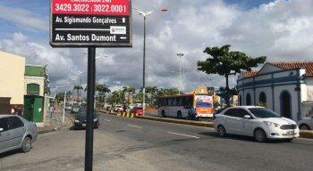 A interdição ocorre na Avenida Sigismundo Gonçalves