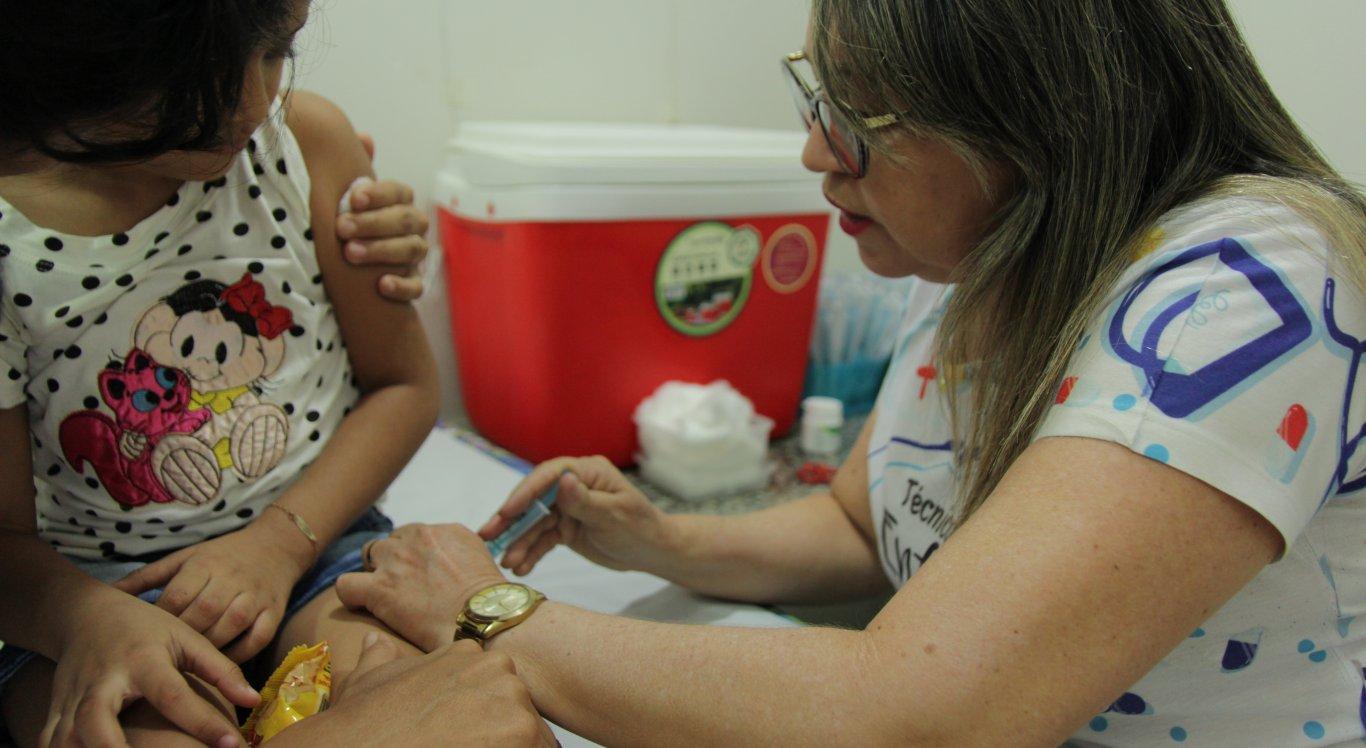 A campanha é destinada à crianças com idade entre 6 meses e 5 anos