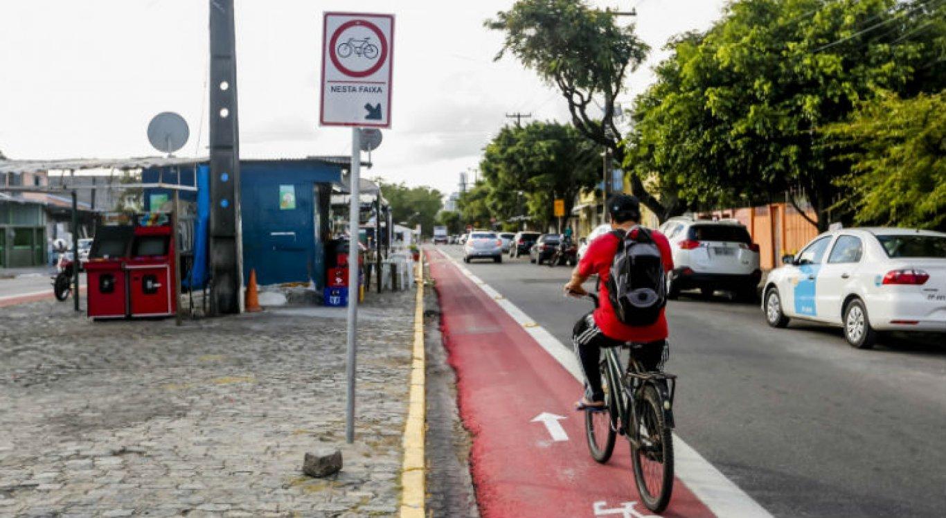 Ciclofaixa Santo Amaro, no Recife