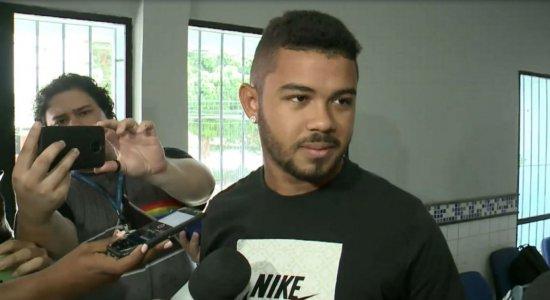 ''Eu não tenho arma'', diz atacante do Sport em depoimento na delegacia