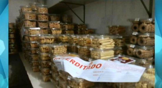 Fábricas de salgados são interditadas na RMR após fiscalização