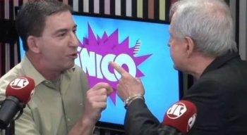 Augusto Nunes e Glenn Greenwald brigaram no programa Pânico