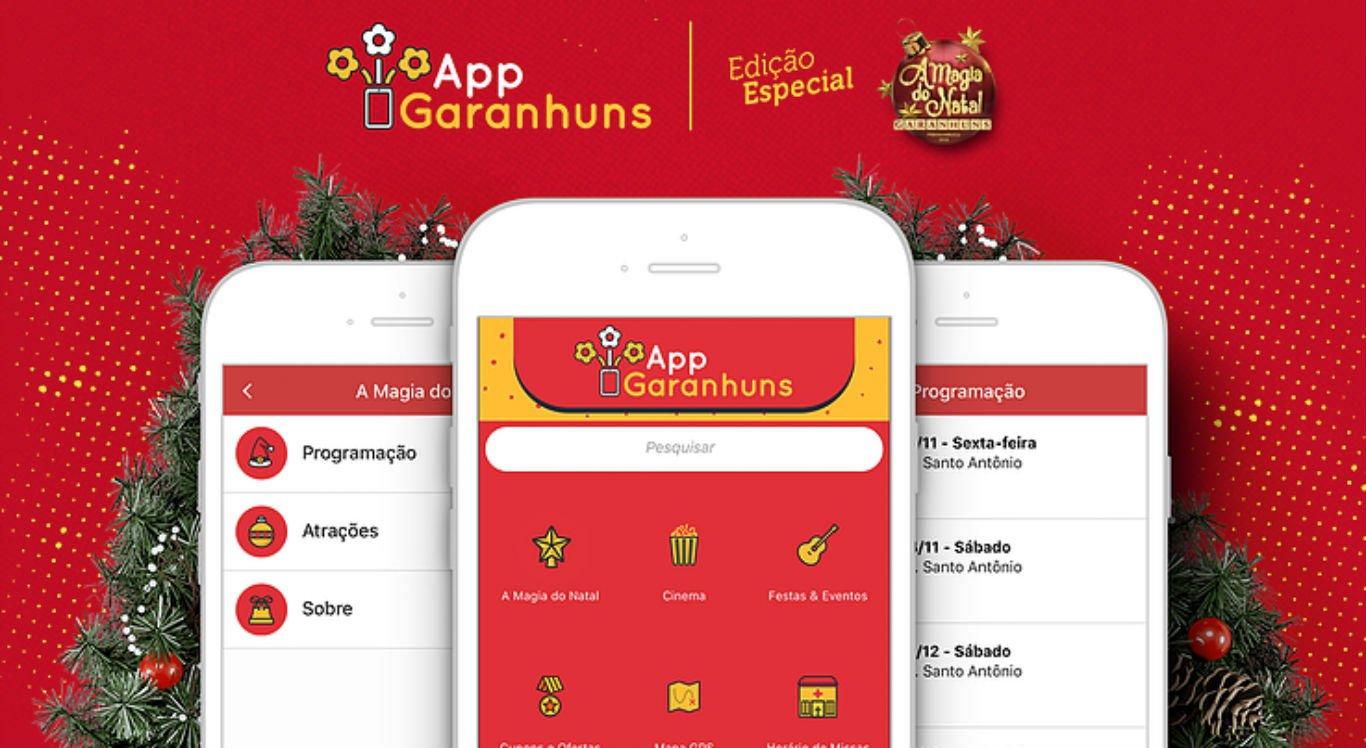 Aplicativo disponibiliza programação e outras informações sobre a Magia do Natal