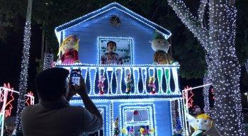 A decoração da Magia de Natal já encanta o público
