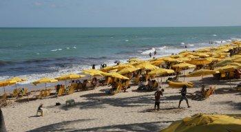 O movimento na Praia de Boa Viagem foi intenso nesse fim de semana