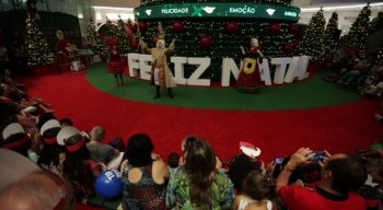 Clima natalino tomou conta do RioMar Recife