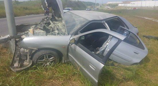 Homem, mulher e bebê de três meses sofrem grave acidente no Cabo de Santo Agostinho