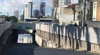 Túnel da Abolição é liberado após alagamento ser controlado