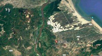 Imagem de satélite do Delta do Parnaíba