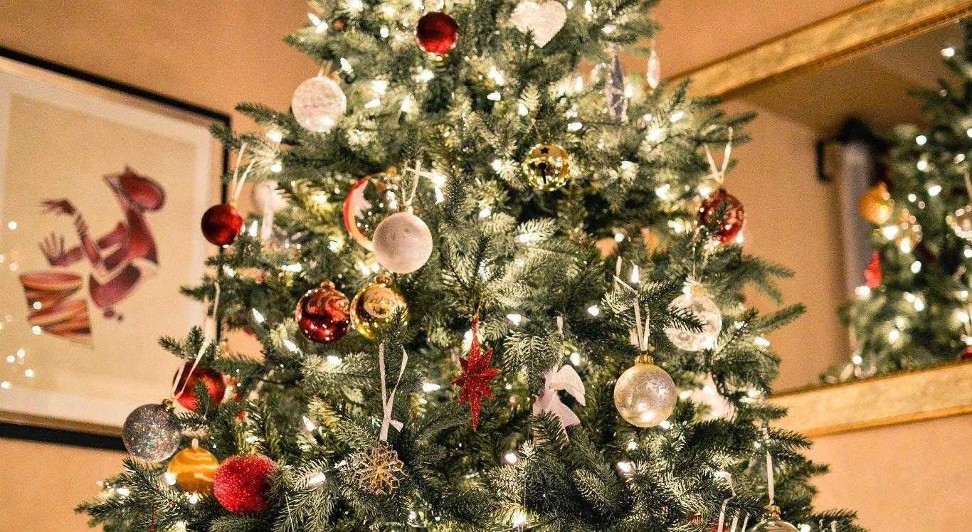 Luzes abrilhantam decoração de Natal