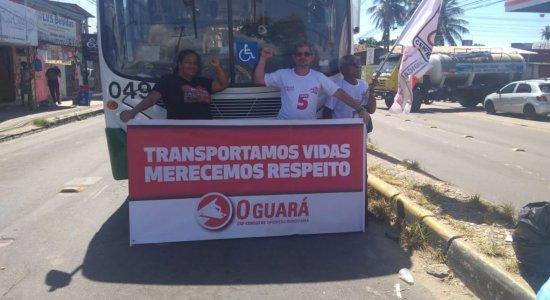 Protesto realizado pelos rodoviários fecha o TI Xambá, em Olinda