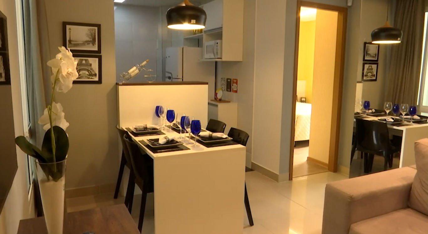 Apartamentos decorados atraem a atenção dos clientes