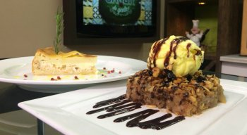 Maçãs de Forno com Sorvete e Torta de Frango de Minuto