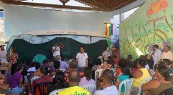 A audiência pública aconteceu na tarde desta sexta-feira (22), na Ilha de Deus, Zona Sul do Recife