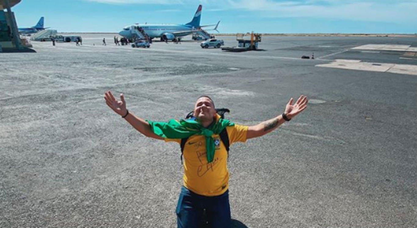 Anderson Dias pousou em Cabo Verde, na África, nesta sexta-feira