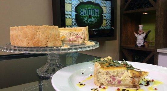 Que tal preparar uma Torta Cremosa de Cebola com Calabresa?