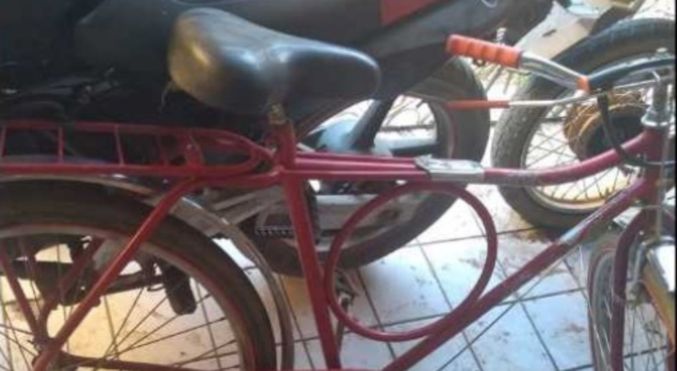 Bicicleta havia sido roubada
