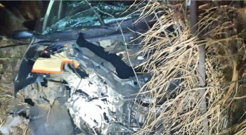 O acidente aconteceu na noite da sexta-feira (22)