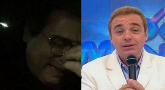 Em vídeo, Celso Portiolli se emociona muito ao falar da morte de Gugu