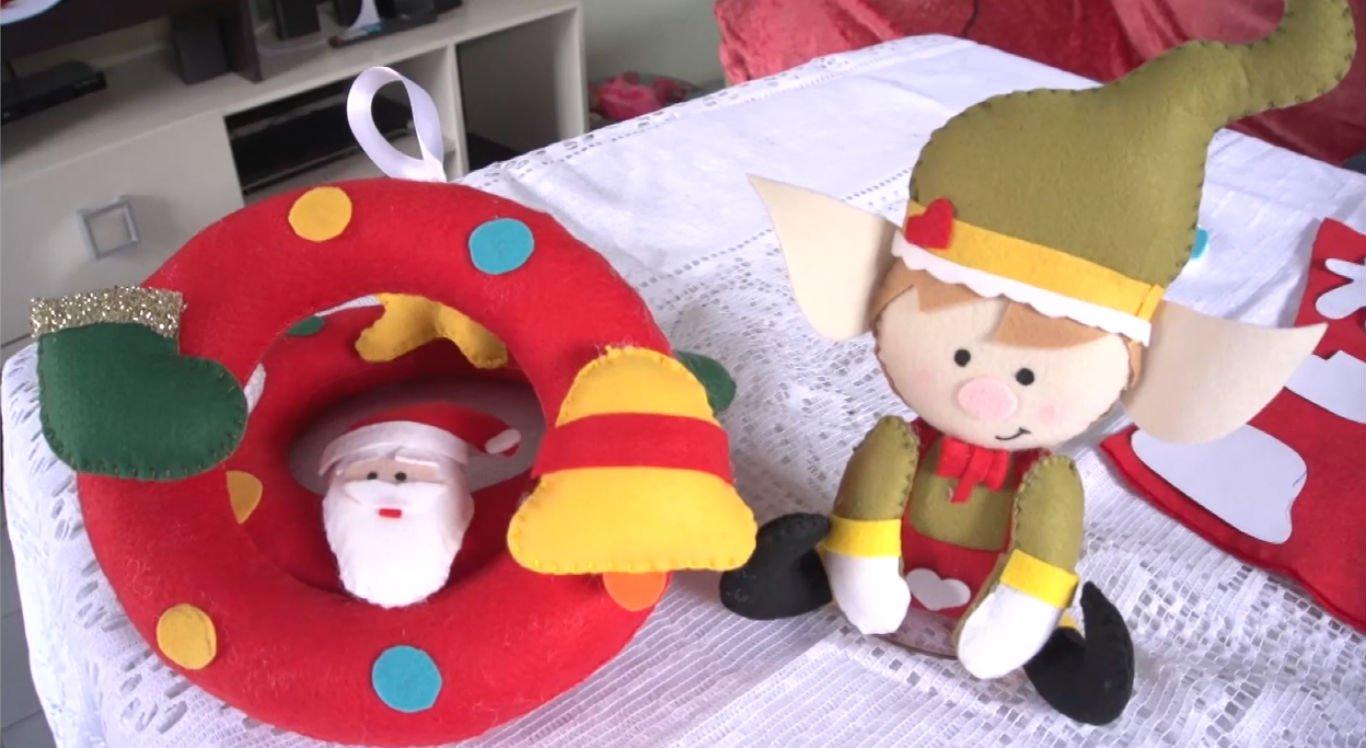 Guirlanda natalina de feltro