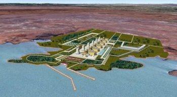 Projeção da Eletronuclear, para a usina em Itacuruba, com seis reatores