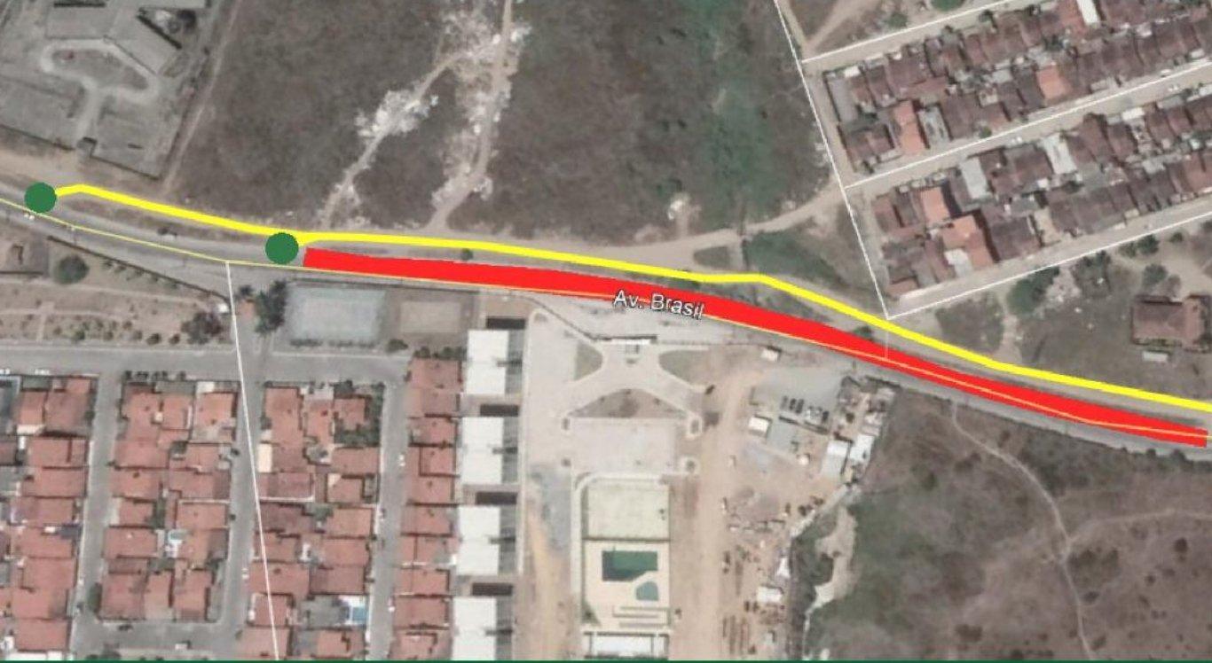 Avenida Brasil será interditada