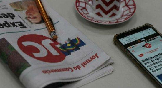 Covid-19: Com início da quarentena, versão impressa do Jornal do Commercio vai dar pausa