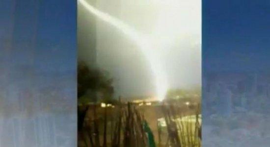 Vídeo mostra raios onde uma mulher morreu após ser atingida no Sertão