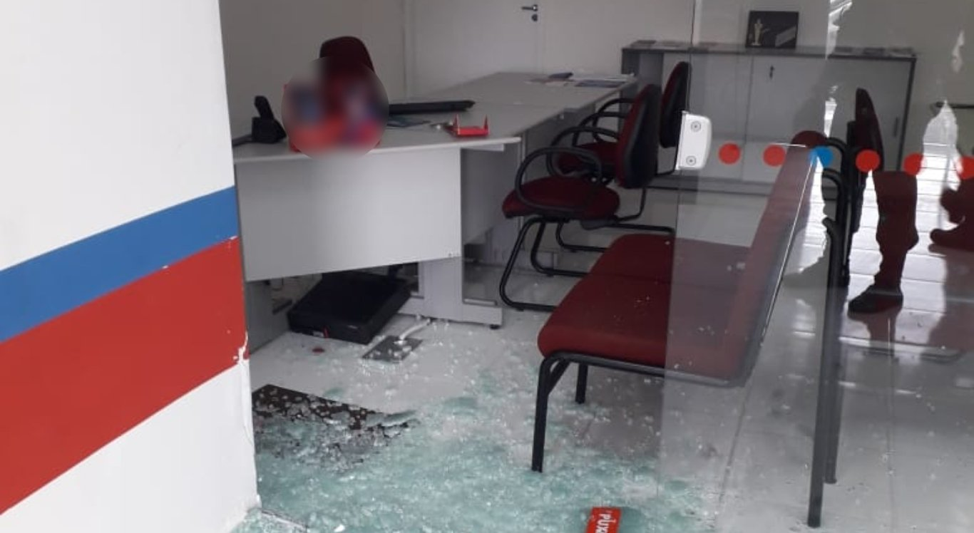 Banco foi arrombado em Taquaritinga do Norte