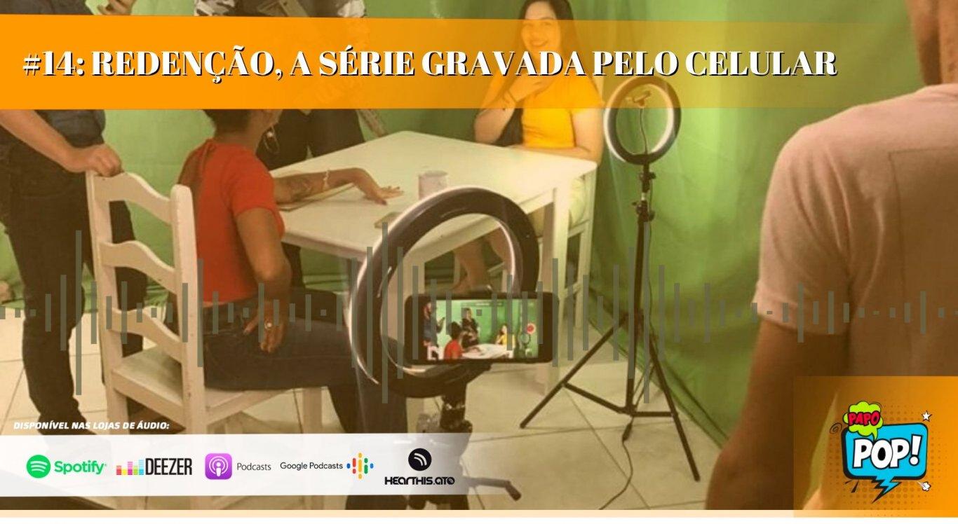 Os jornalistas Antonio Neto e Elton Braytnner recebem equipe do seriado para mais um PAPO POP