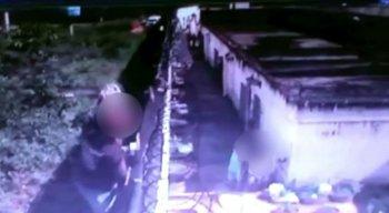 Câmeras de segurança registram a fuga dos internos da Funase do Cabo de Santo Agostinho