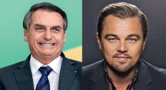 Bolsonaro acusa Leonardo Di Caprio de