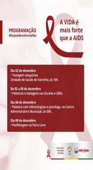 Programação do Dezembro Vermelho em Serra Talhada