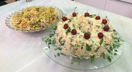 Vamos preparar Guirlanda de Salpicão e Salada de Bacalhau?