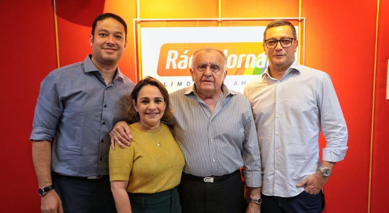 O Presidente do Sistema Jornal do Commercio visitou a sede da Rádio Jornal em Limoeiro