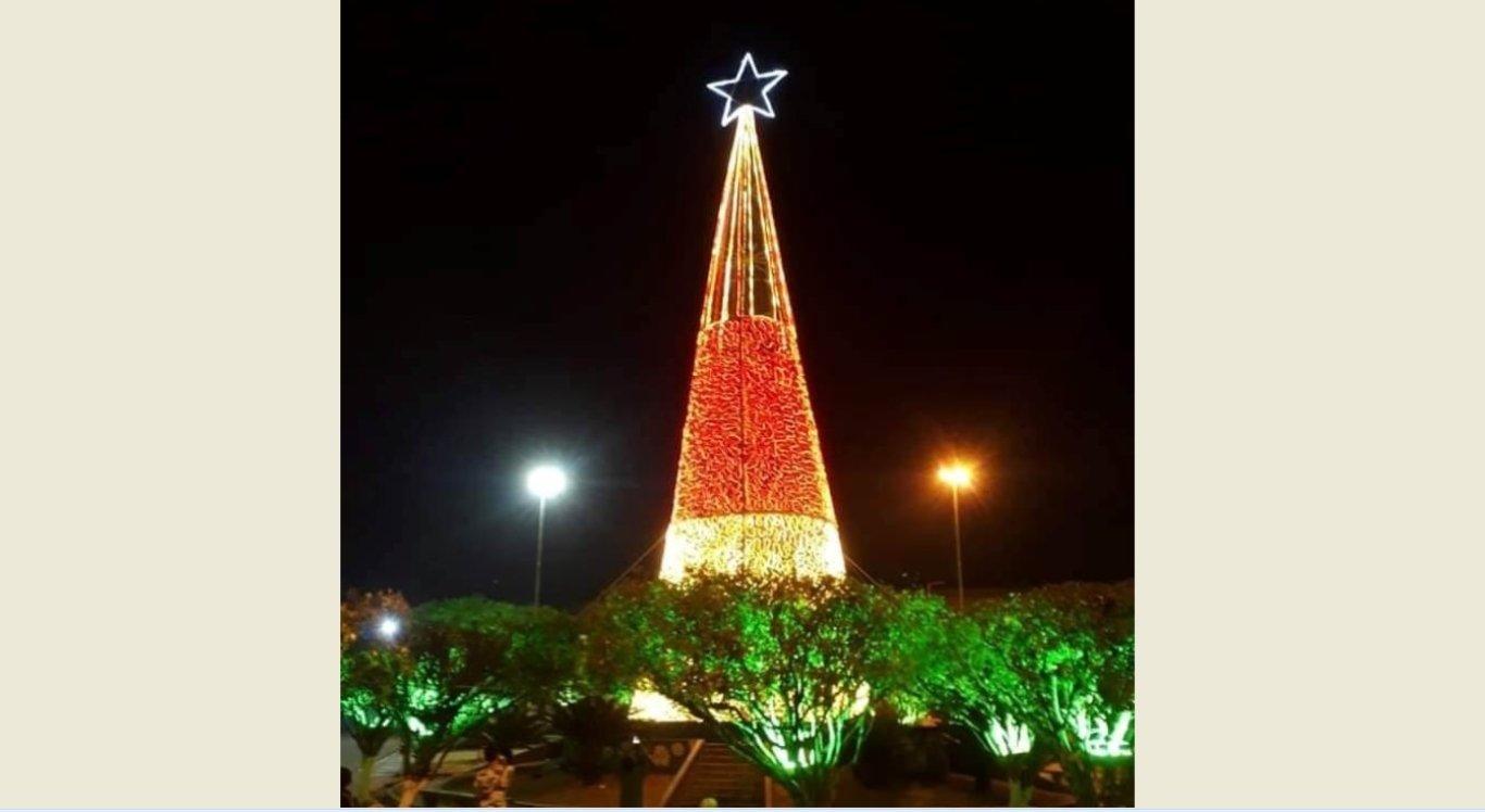 Árvore de natal é inaugurada em João Alfredo