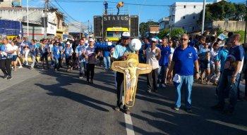 Procissão no Morro de Nossa Senhora da Conceição