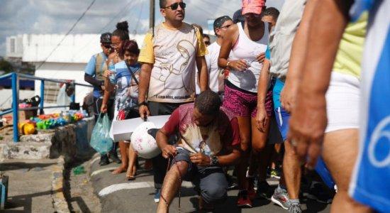 Samu orienta fiéis que vão subir o Morro da Conceição