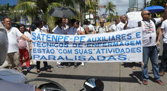 Após protestos, Governo de Pernambuco se pronuncia sobre campanha salarial dos enfermeiros