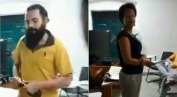 Alunos reprovaram a atitude do colega e se indignaram no meio da aula