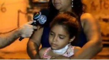 A criança passou pelo procedimento médico e está em casa