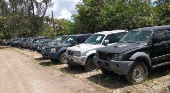 Todos os veículos são do acervo da Polícia Federal