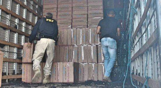 PRF apreende carga de cigarro avaliada em R$1 milhão em Petrolina